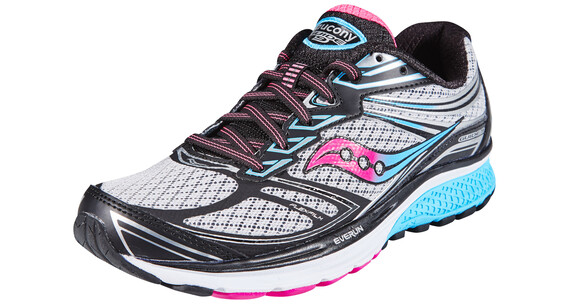 saucony Guide 9 Running Shoes Women Grey/Blue/Pink